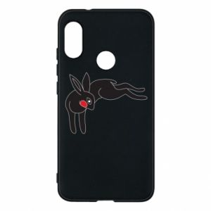 Phone case for Mi A2 Lite Embarrassed black bunny