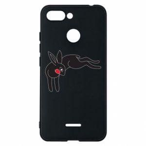 Etui na Xiaomi Redmi 6 Embarrassed black bunny