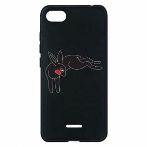 Etui na Xiaomi Redmi 6A Embarrassed black bunny