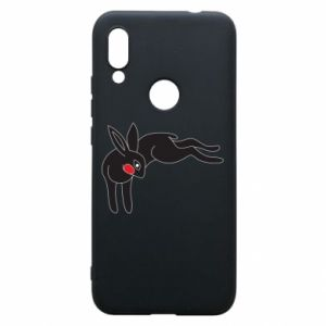 Etui na Xiaomi Redmi 7 Embarrassed black bunny