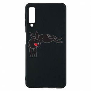 Phone case for Samsung A7 2018 Embarrassed black bunny - PrintSalon