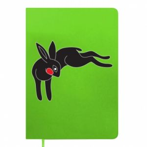 Notepad Embarrassed black bunny