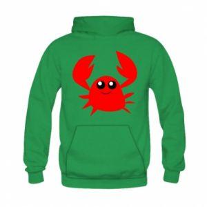 Bluza z kapturem dziecięca Embarrassed crab