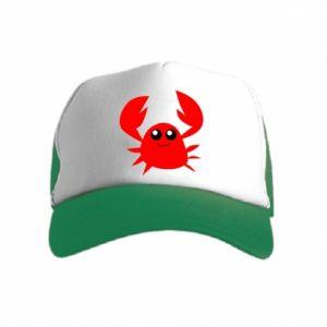 Czapka trucker dziecięca Embarrassed crab