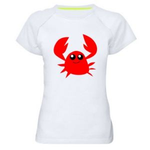 Koszulka sportowa damska Embarrassed crab