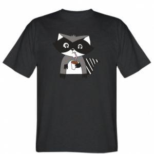 Koszulka męska Embarrassed raccoon with glass