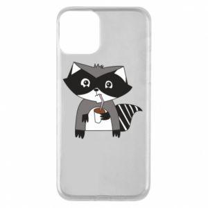 Etui na iPhone 11 Embarrassed raccoon with glass