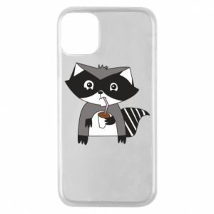 Etui na iPhone 11 Pro Embarrassed raccoon with glass