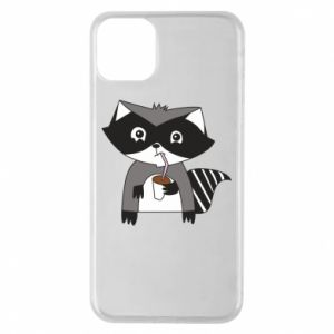 Etui na iPhone 11 Pro Max Embarrassed raccoon with glass