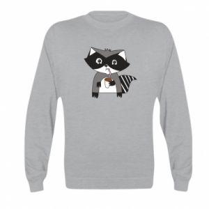 Bluza dziecięca Embarrassed raccoon with glass