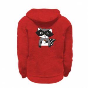 Bluza na zamek dziecięca Embarrassed raccoon with glass