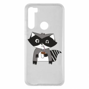 Etui na Xiaomi Redmi Note 8 Embarrassed raccoon with glass