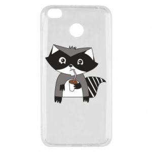 Etui na Xiaomi Redmi 4X Embarrassed raccoon with glass