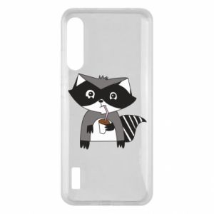 Etui na Xiaomi Mi A3 Embarrassed raccoon with glass