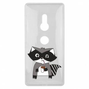 Etui na Sony Xperia XZ2 Embarrassed raccoon with glass