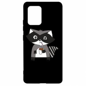 Etui na Samsung S10 Lite Embarrassed raccoon with glass
