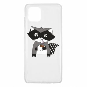 Etui na Samsung Note 10 Lite Embarrassed raccoon with glass