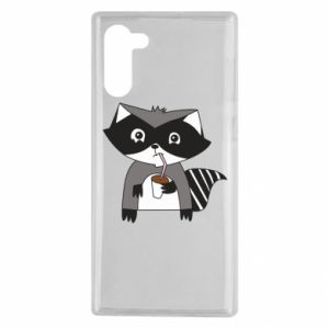 Etui na Samsung Note 10 Embarrassed raccoon with glass