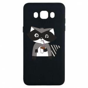 Etui na Samsung J7 2016 Embarrassed raccoon with glass