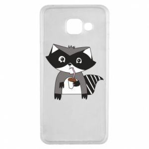Etui na Samsung A3 2016 Embarrassed raccoon with glass