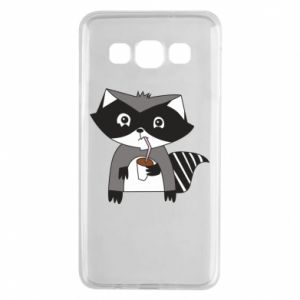 Etui na Samsung A3 2015 Embarrassed raccoon with glass