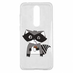 Etui na Nokia 5.1 Plus Embarrassed raccoon with glass