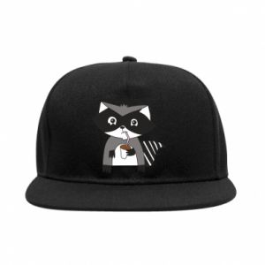 Snapback Embarrassed raccoon with glass