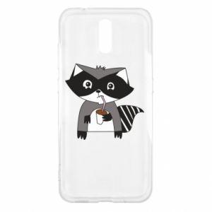 Etui na Nokia 2.3 Embarrassed raccoon with glass