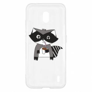 Etui na Nokia 2.2 Embarrassed raccoon with glass