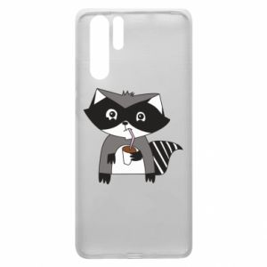 Etui na Huawei P30 Pro Embarrassed raccoon with glass