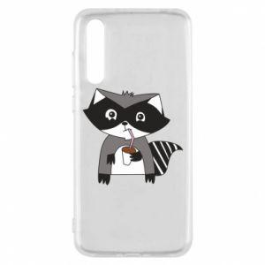 Etui na Huawei P20 Pro Embarrassed raccoon with glass