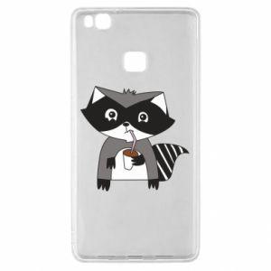 Etui na Huawei P9 Lite Embarrassed raccoon with glass