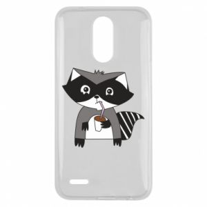 Etui na Lg K10 2017 Embarrassed raccoon with glass
