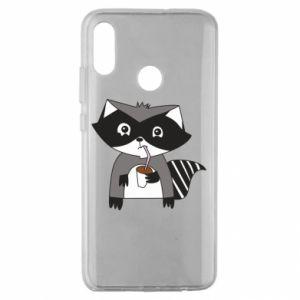 Etui na Huawei Honor 10 Lite Embarrassed raccoon with glass
