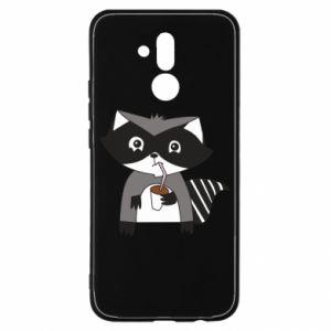 Etui na Huawei Mate 20 Lite Embarrassed raccoon with glass