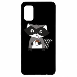 Etui na Samsung A41 Embarrassed raccoon with glass