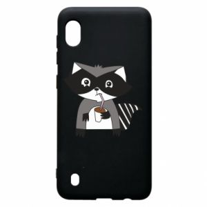 Etui na Samsung A10 Embarrassed raccoon with glass