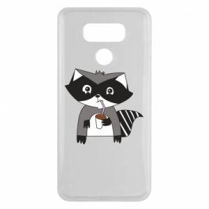 Etui na LG G6 Embarrassed raccoon with glass