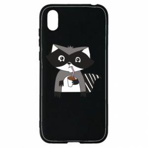 Etui na Huawei Y5 2019 Embarrassed raccoon with glass