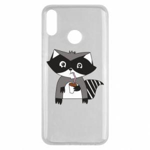 Etui na Huawei Y9 2019 Embarrassed raccoon with glass