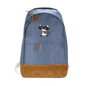 Urban backpack Embarrassed raccoon with glass