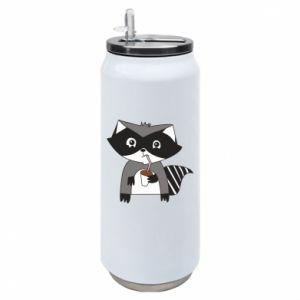 Puszka termiczna Embarrassed raccoon with glass