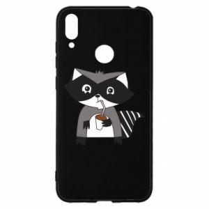Etui na Huawei Y7 2019 Embarrassed raccoon with glass