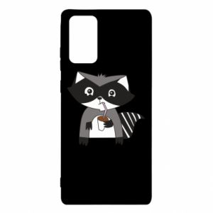 Etui na Samsung Note 20 Embarrassed raccoon with glass