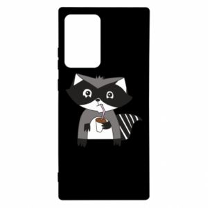 Etui na Samsung Note 20 Ultra Embarrassed raccoon with glass