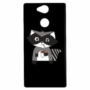Etui na Sony Xperia XA2 Embarrassed raccoon with glass