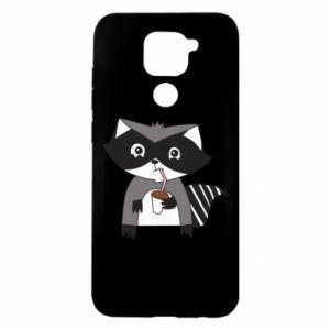 Etui na Xiaomi Redmi Note 9/Redmi 10X Embarrassed raccoon with glass