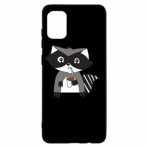 Etui na Samsung A31 Embarrassed raccoon with glass