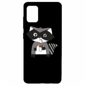 Etui na Samsung A51 Embarrassed raccoon with glass