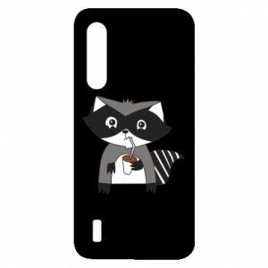 Etui na Xiaomi Mi9 Lite Embarrassed raccoon with glass